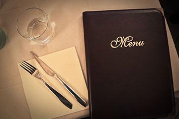 page menu restaurant