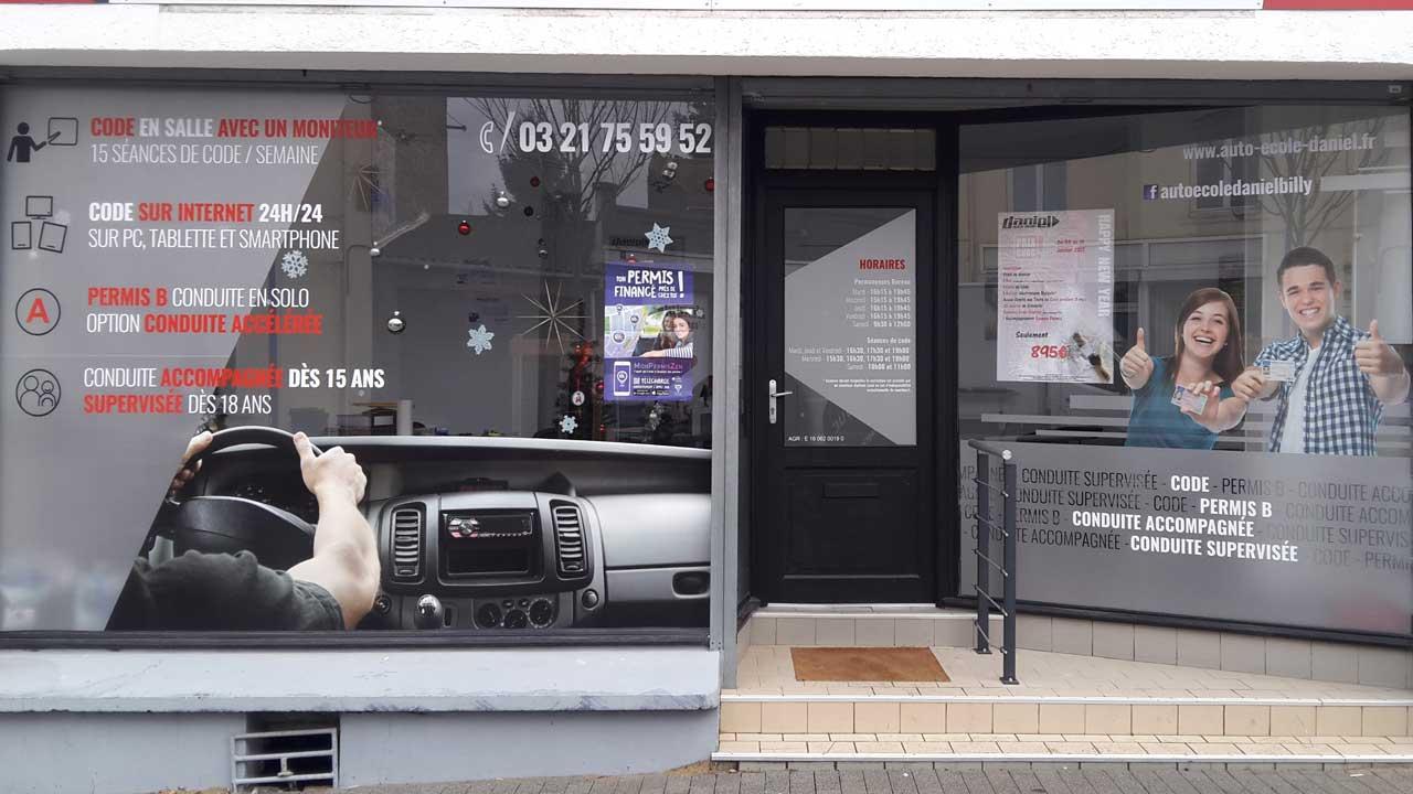 lettrage d coration adh sive sur vitrine 62 lens b thune lille. Black Bedroom Furniture Sets. Home Design Ideas