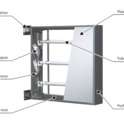fabrication de caisson lumineux tube fluo