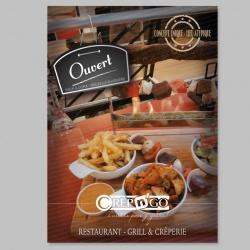 création flyer pour restaurant