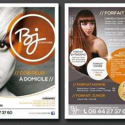 création flyer salon coiffure