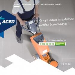 création d'un site vitrine pour l'entreprise de nettoyage ACEO