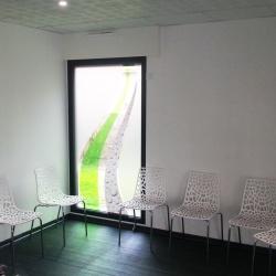 décoration vitre cabinet lettrage