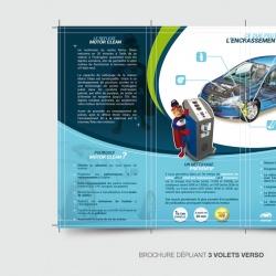 identité visuelle Motor Clean - élément print