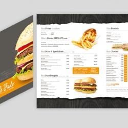 plaquette menu restaurant fado