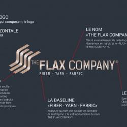 présentation de l'identité graphique the flax company