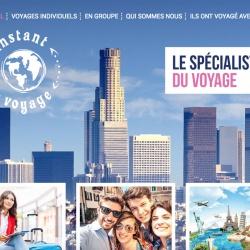 création d'un site web pour l'agence instant voyage