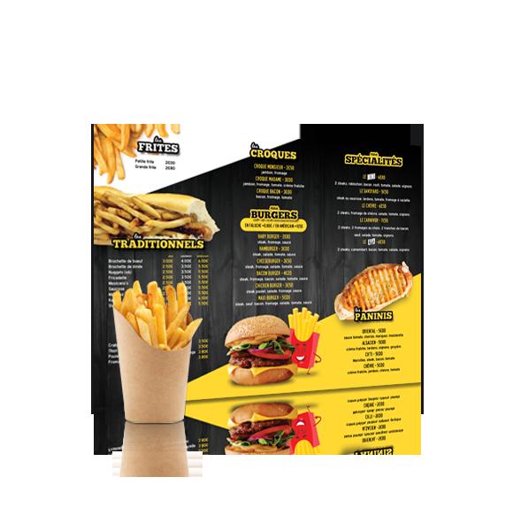 panneau menu de restaurant
