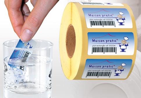 Etiquettes solubles dans l'eau
