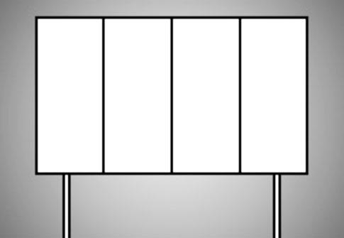 panneaux 4x3 portatifs verticaux