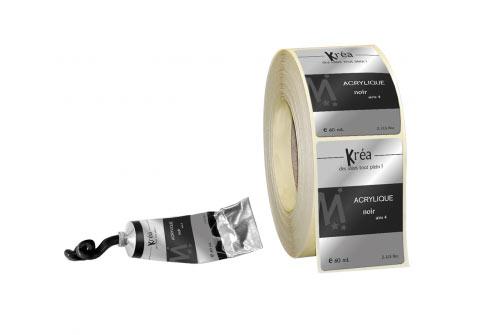Papier alu brillant impression noire