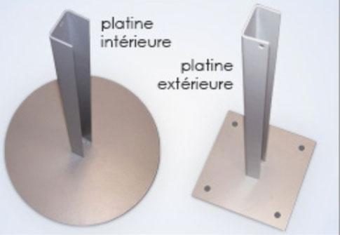 platine pour mats signalétique