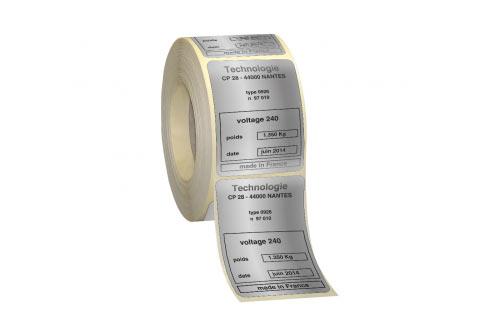 Polyester Alu mat–adhésif renforcé impression 1 ou 2 couleur