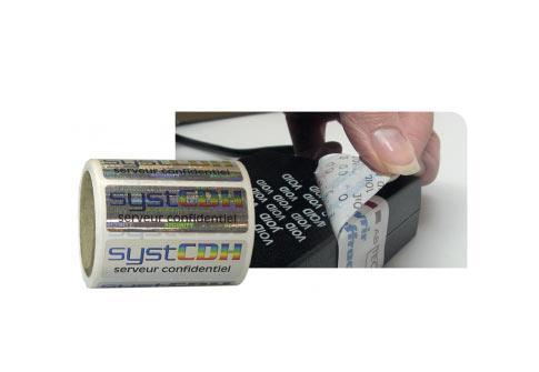 Polyester VOID impression quadri blanc ou holographique