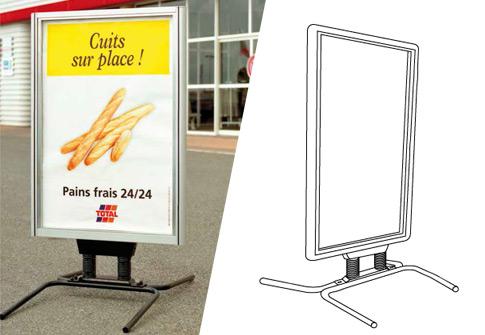 Porte affiche publicitaire