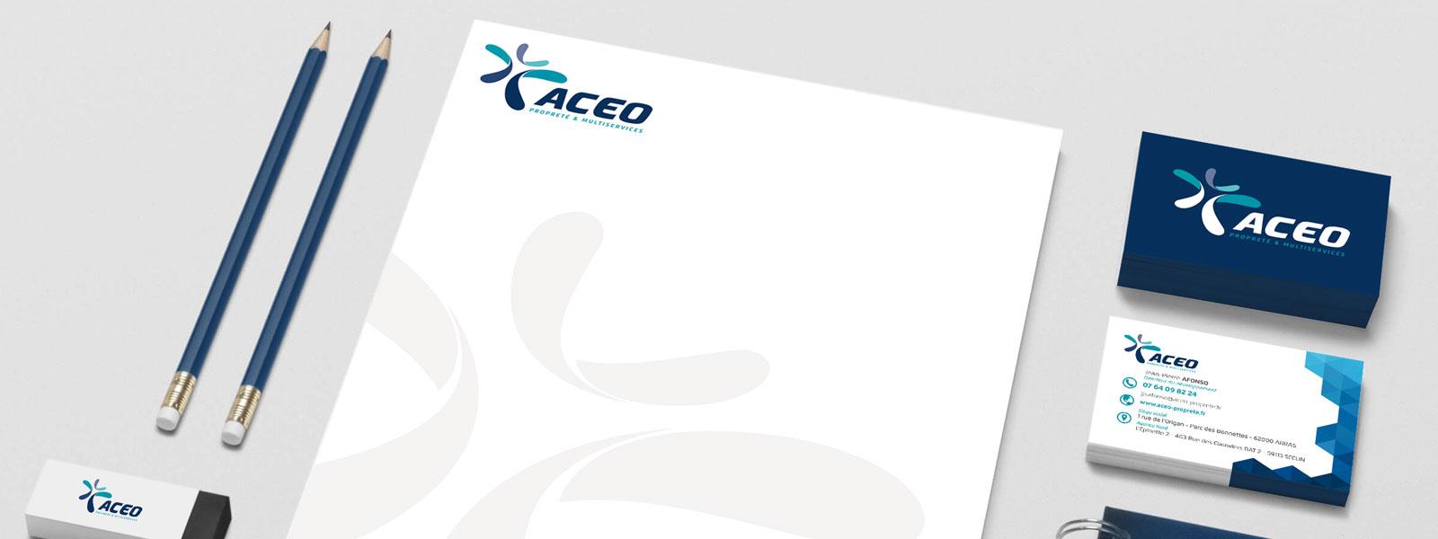 création d'une charte graphique pour la société Aceo