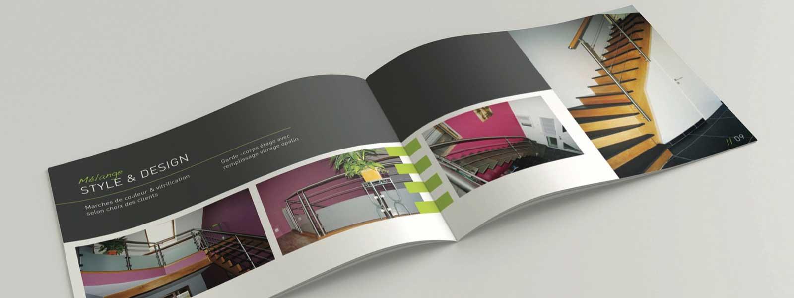 création de brochure design