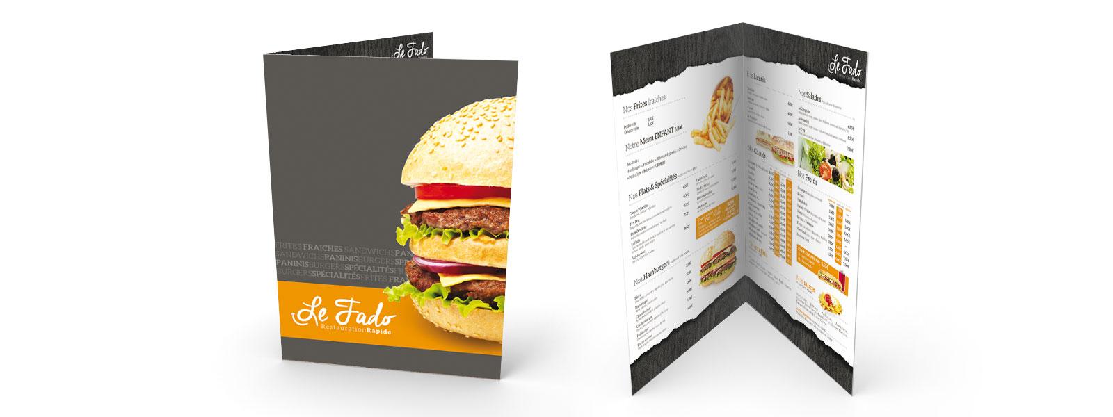 création de menu design