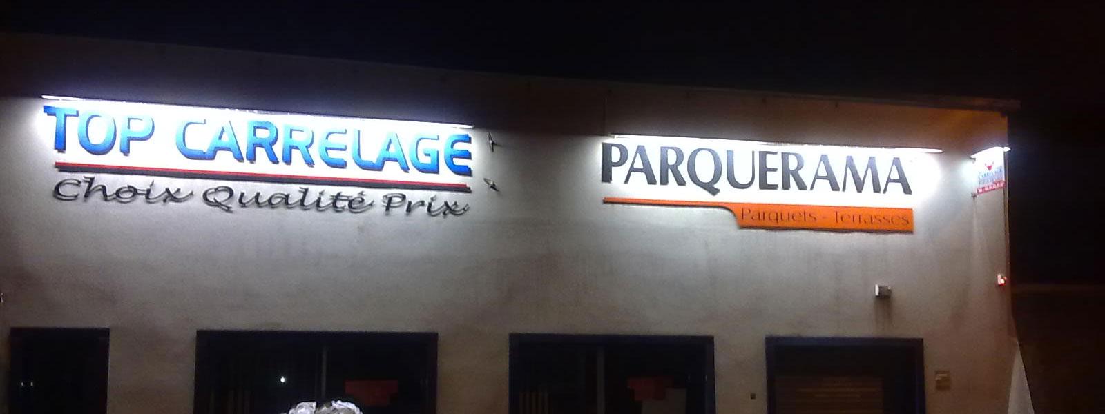 Fabrication et pose d 39 enseigne lumineuse clairage pour for Panneau enseigne exterieur