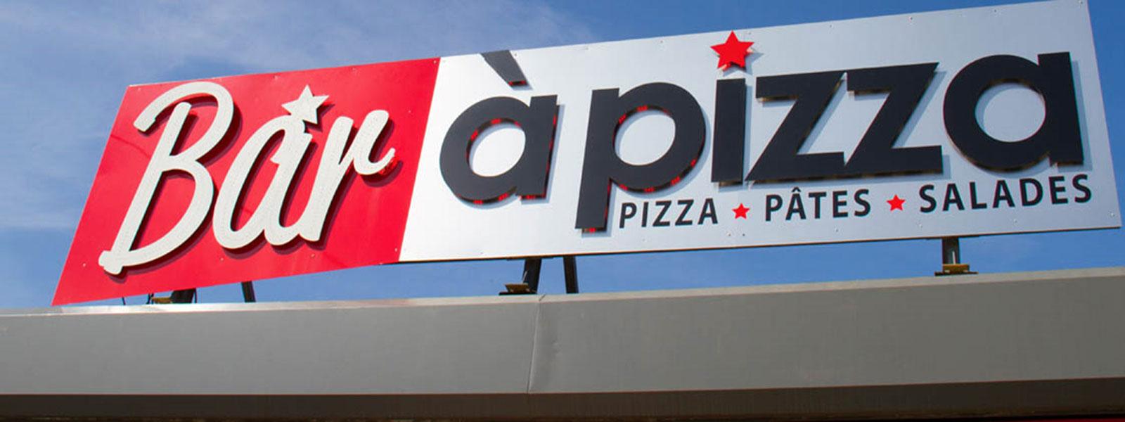 enseigne pizza lettre relief