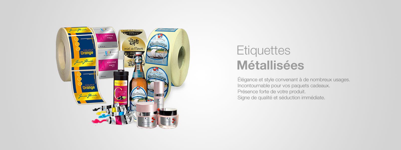 Etiquettes métallisées