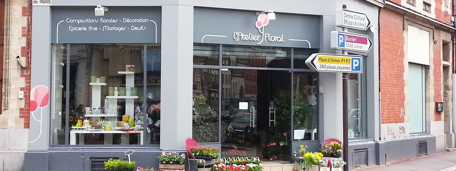 habillage enseigne magasin fleuriste