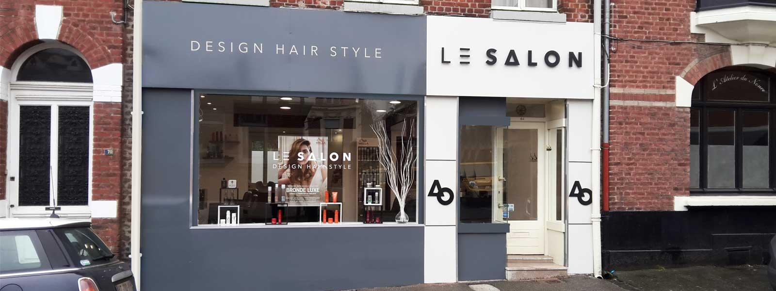 habillage façade salon de coiffure