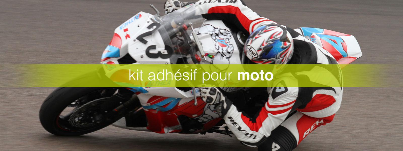 kit adhésif moto
