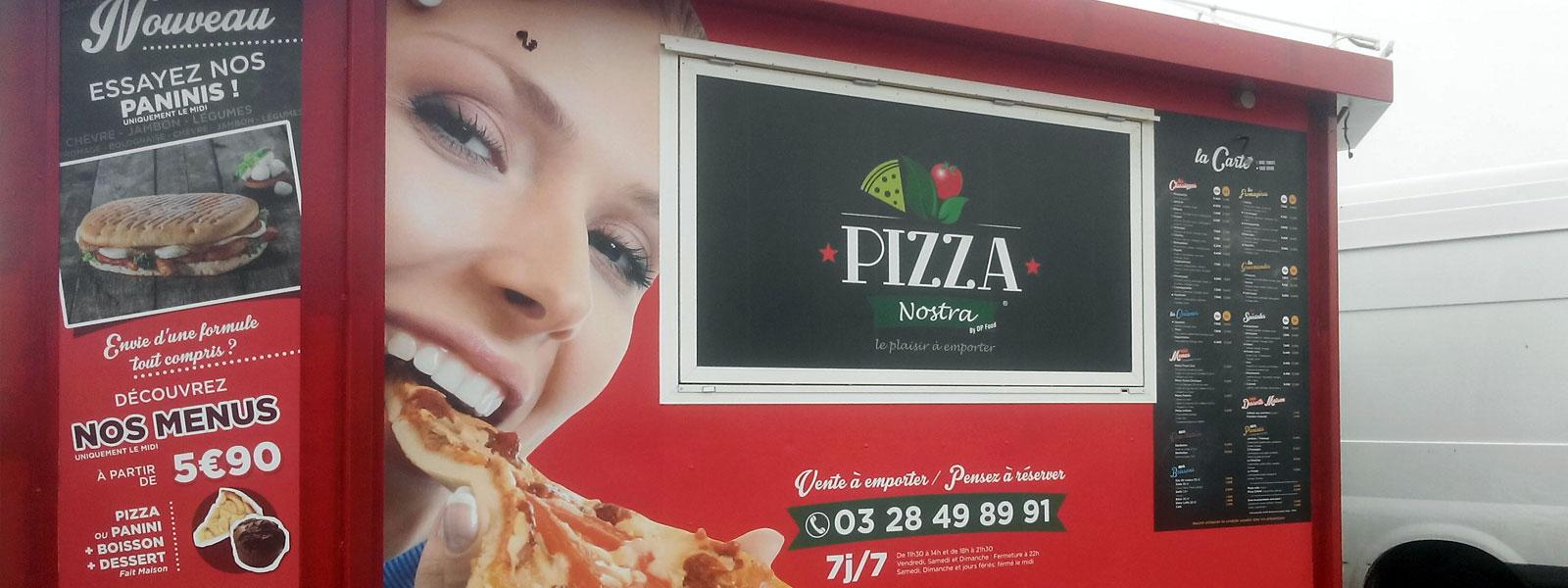 enseigne deco remorque pizza