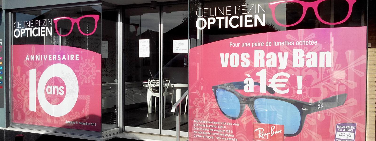 lettrage vitrine opticien