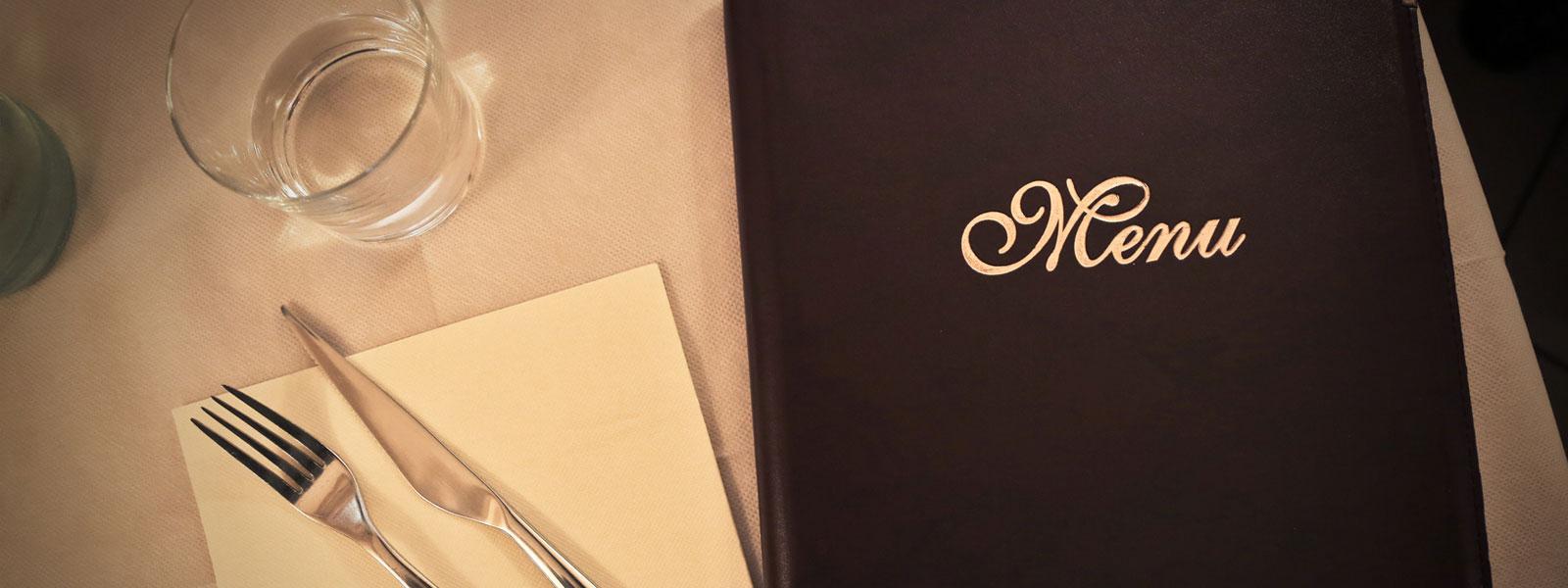 menu pour restaurant