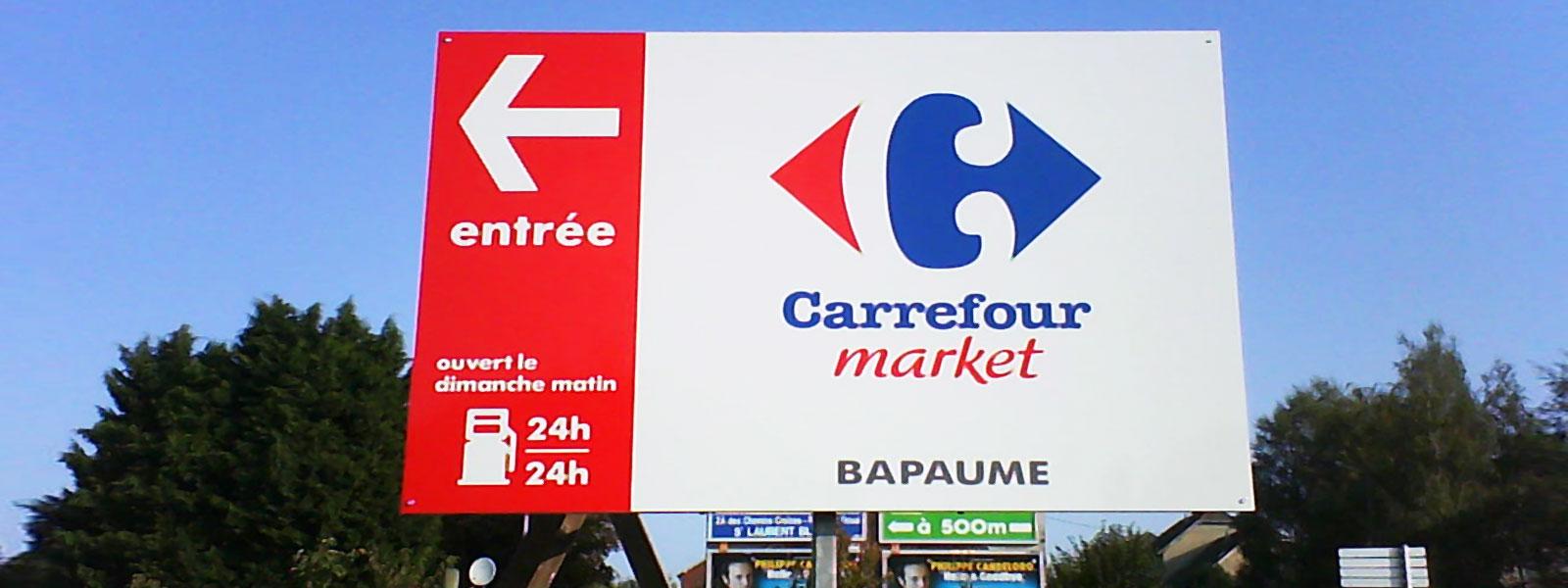 Fabrication pose de panneaux publicitaires 4x3 depuis for Panneau exterieur publicitaire
