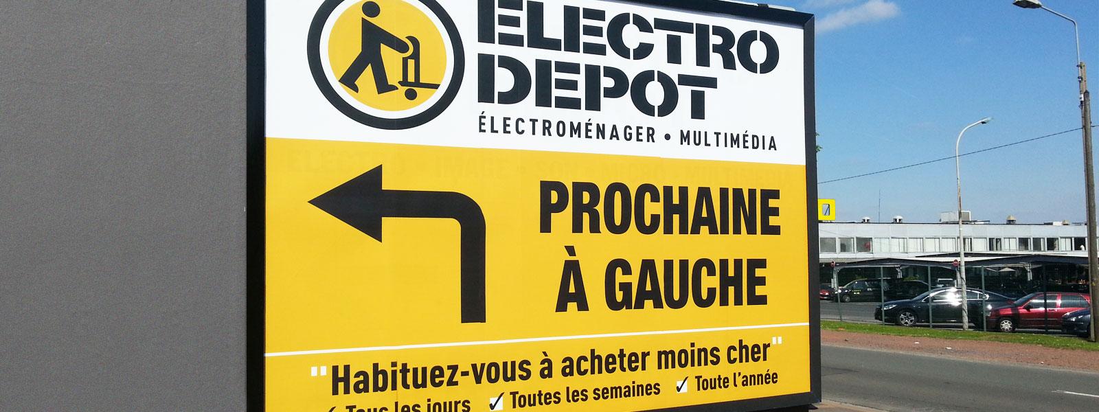 panneau 4X3 enseigne electrodepot