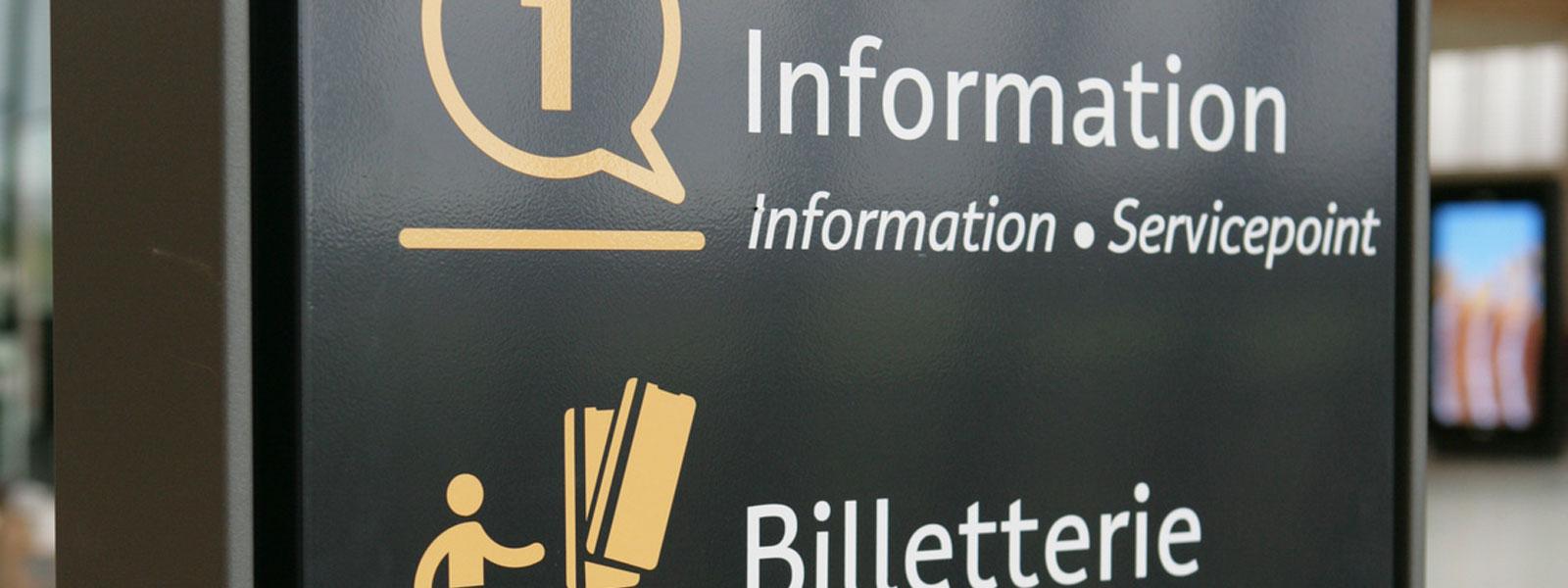 plaque d'information publicitaire