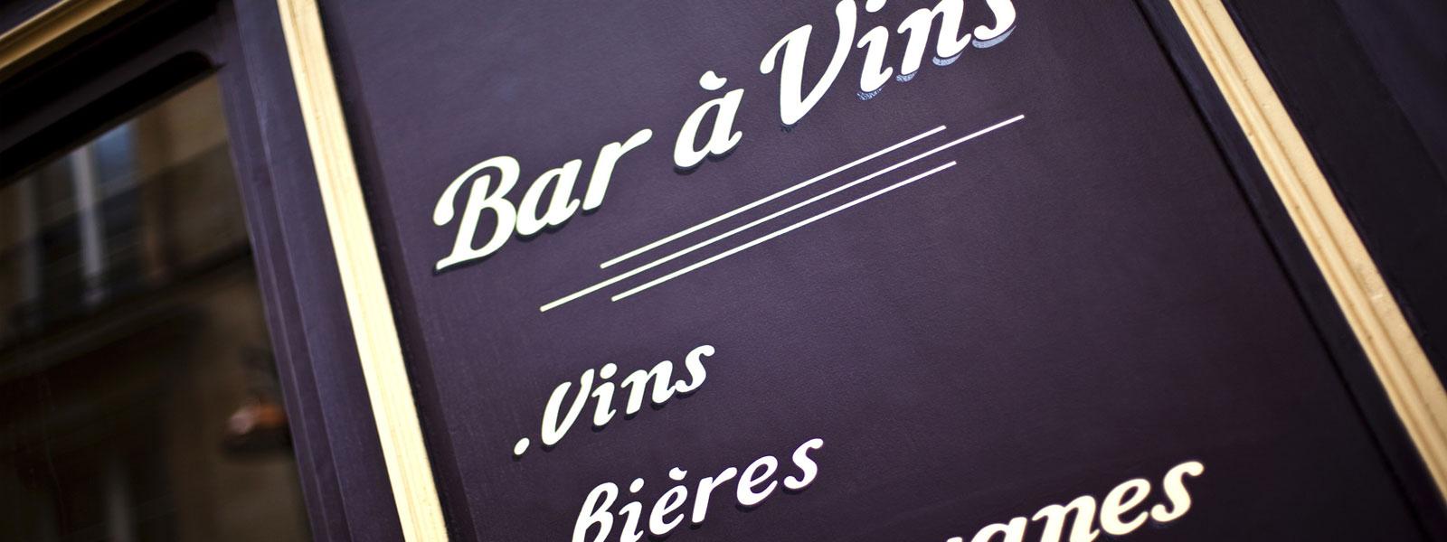 panneau signalétique bar a vins