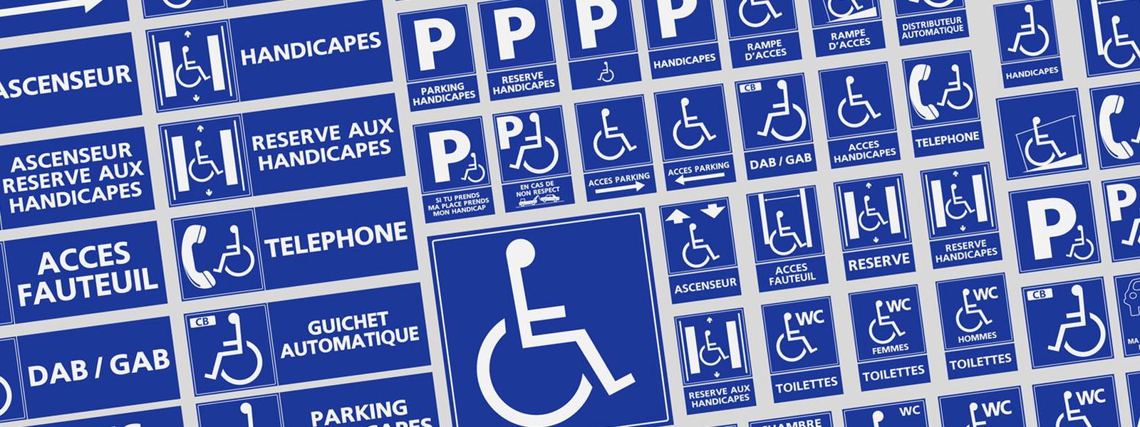 panneau signalétique handicape
