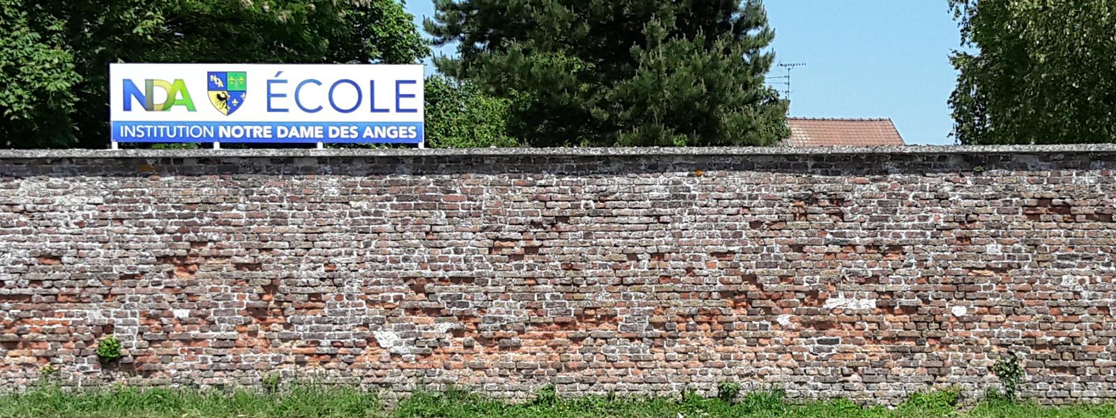 panneau signalétique école notre dame des anges
