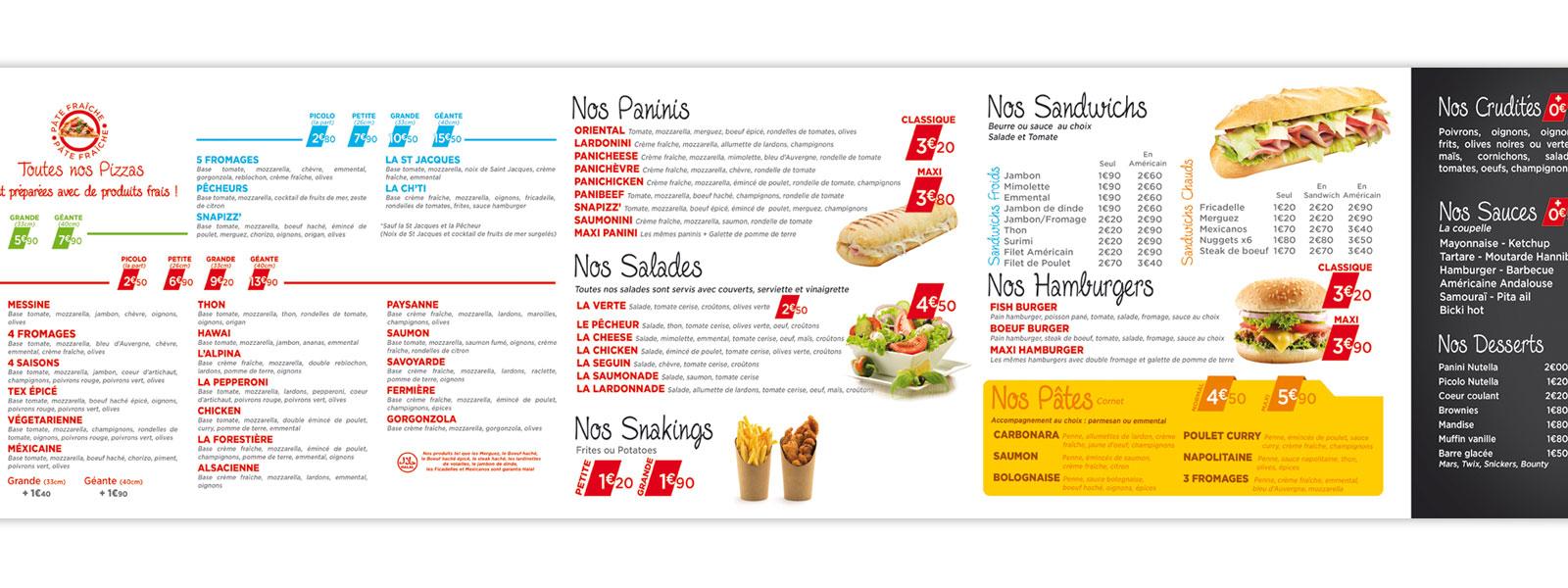 création graphique menu