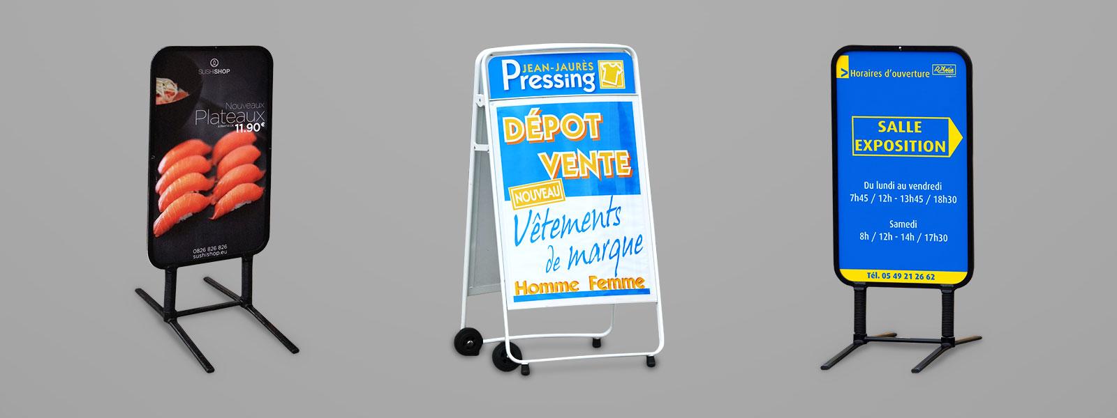 Chevalet stop trottoir signal tique ext rieure for Porte affiche exterieur