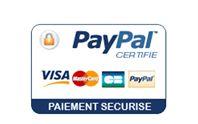 Paiement sécurisé CB - Paypal - Virement - Chèque